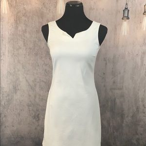 White Sleeveless Jean Dress